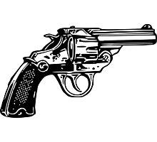 Simple Revolver Pistol Photographic Print
