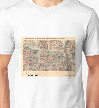 Booth's Map of London Poverty for Haggerston ward, Hackney Unisex T-Shirt