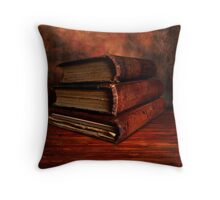 Old Red Books Throw Pillow