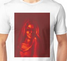 Digital painting of mysterious girl Unisex T-Shirt