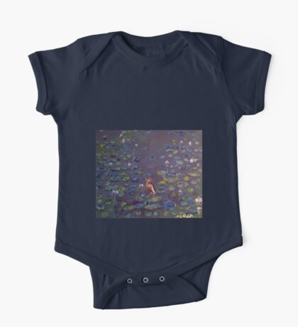 Indian Heron on Lily Pond One Piece - Short Sleeve