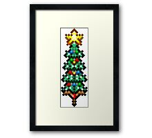 Retro 8 bit christmas tree Framed Print