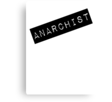 Anarchist Label Canvas Print
