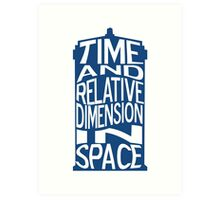 TARDIS Definition Art Print