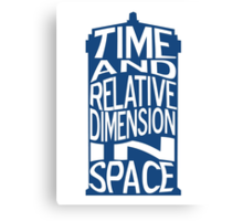 TARDIS Definition Canvas Print