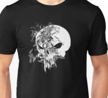 Punisher Skull Symbol Up in Smoke on Black Print Unisex T-Shirt