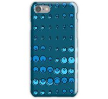 Abstract blue water bubbles iPhone Case/Skin
