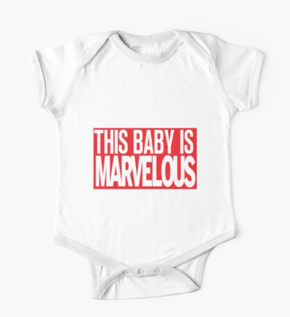 This Baby Is Marvelous One Piece - Short Sleeve