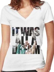 Conor McGregor - It Was All a Dream Women's Fitted V-Neck T-Shirt