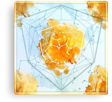 Constellation Set - Nov Sagittarius / Citrine Canvas Print