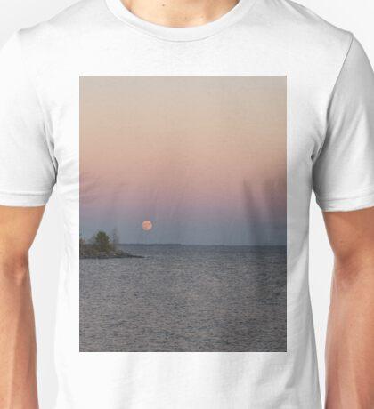 Pink Supermoon Rising Unisex T-Shirt