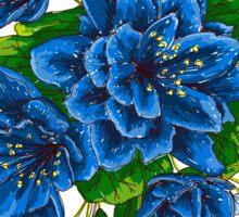 bunch of blue flowers  Sticker