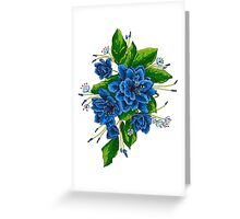 bunch of blue flowers  Greeting Card