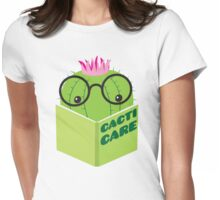 caring for cacti Womens Fitted T-Shirt
