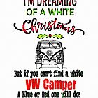 VW Camper White Xmas by Sharon Poulton