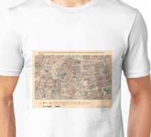 Booth's Map of London Poverty for Hoxton East & Shoreditch ward, City of London Unisex T-Shirt
