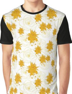 pattern with gold, yellow flowers Graphic T-Shirt