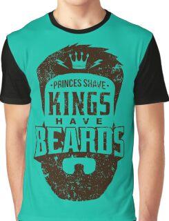 Beard - Kings Have Beards Graphic T-Shirt