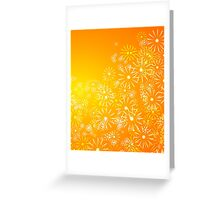 Abstract golden floral. Greeting Card