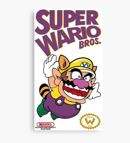 Super Wario Bros Canvas Print
