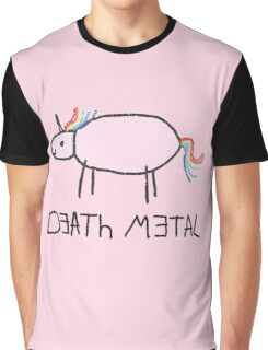 Death Metal Unicorn Graphic T-Shirt
