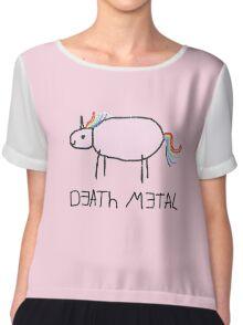 Death Metal Unicorn Chiffon Top