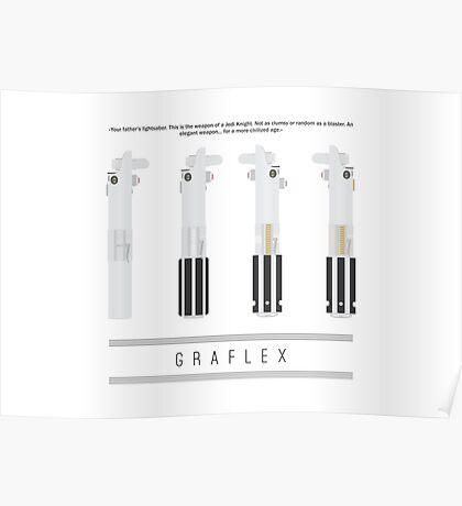 Graflex Lightsaber Poster (White) Poster