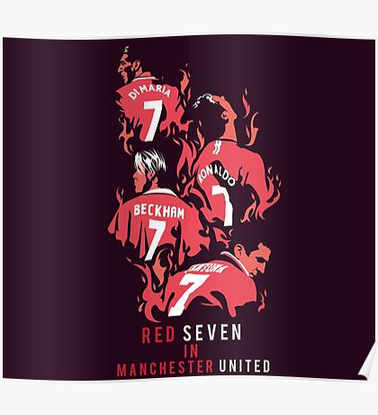 Red Seven In Manchester United Poster