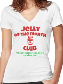 Christmas Vacation - Jelly Of The Month Club  Women's Fitted V-Neck T-Shirt