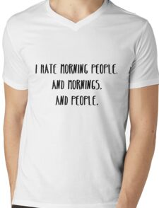 I Hate Morning People Mens V-Neck T-Shirt