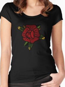 Sailor Jerry Rose Women's Fitted Scoop T-Shirt