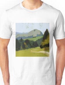 Mountains Under an Autumnal Sun  Unisex T-Shirt