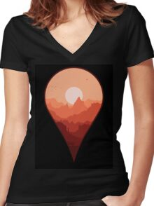 Destination Unknown Women's Fitted V-Neck T-Shirt