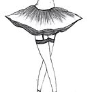 sexy ballerina drawing by Perggals© - Stacey Turner
