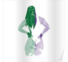 Minimalist She-Hulk Poster