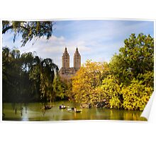 Autumn in Central Park  Poster