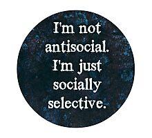 Socially Selective Photographic Print
