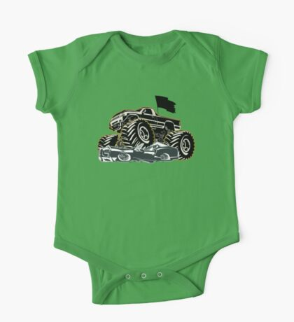 Cartoon Monster Truck One Piece - Short Sleeve