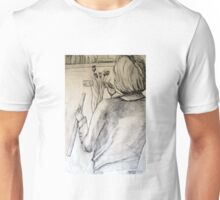 Myself drawing the Artist Barbra sketching dry Poppy Heads Unisex T-Shirt