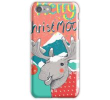 Merry ChristMOOSE Christmas gifts iPhone Case/Skin