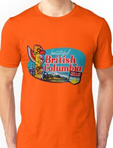 Beautiful British Columbia BC Vintage Travel Decal Unisex T-Shirt
