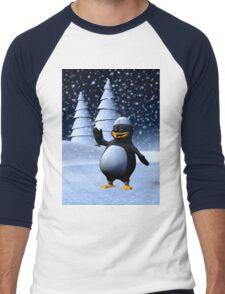 Sailor Penguin Men's Baseball ¾ T-Shirt