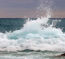 Big waves at the Little Cove ~ Bruce Peninsula, Ontario, Canada by Jeannine St-Amour