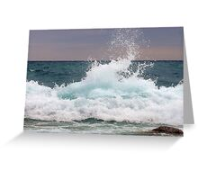 Big waves at the Little Cove ~ Bruce Peninsula, Ontario, Canada Greeting Card
