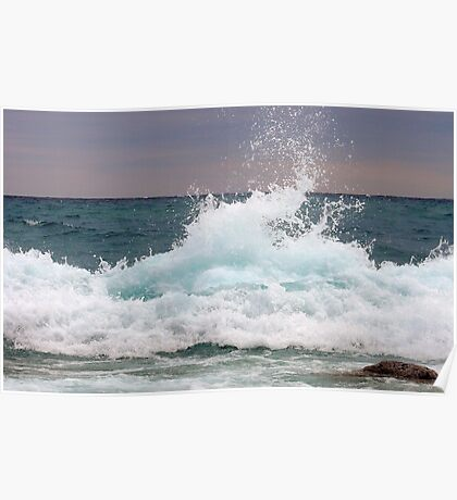 Big waves at the Little Cove ~ Bruce Peninsula, Ontario, Canada Poster