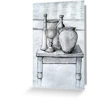 A Still Life Drawing On a Table .  It is a Challenge but fun. Greeting Card