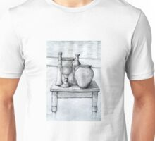 A Still Life Drawing On a Table .  It is a Challenge but fun. Unisex T-Shirt