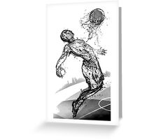 Flying Football Greeting Card