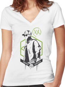 Watch Dogs 2 - Hacker Services Women's Fitted V-Neck T-Shirt