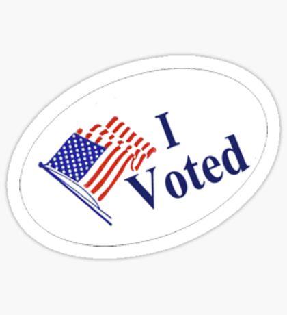 I Voted sticker badge Sticker